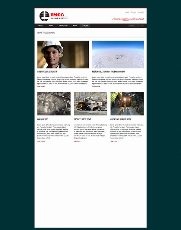 Mining corporate Website wordpress