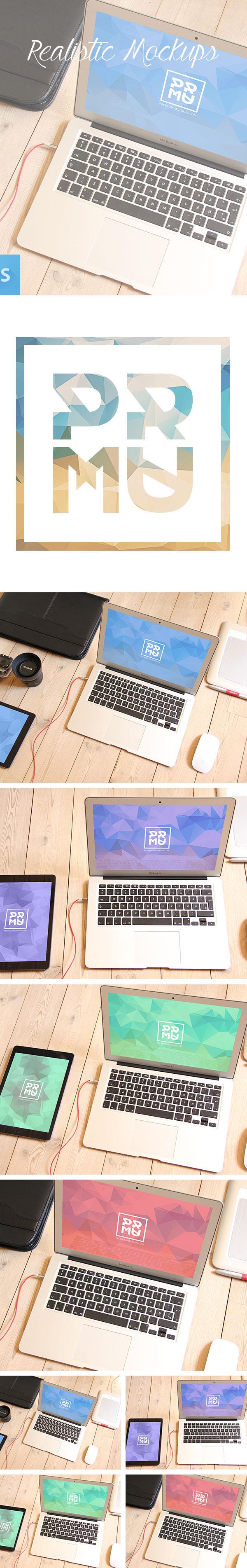 iPad mac macbook Mockup free psd download Hero apple Webdesign mock up Quality
