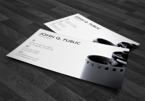 Black and white photographer business cards on behance business card info vertical 35x2 1 sided font futura medium zazzle font tool customizable font color size style text placement reheart Image collections