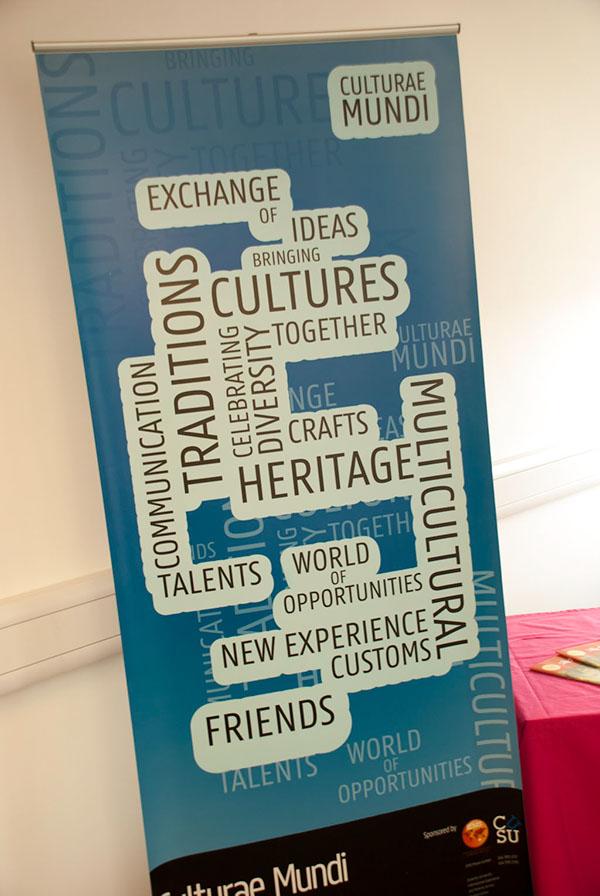 Culturae Mundi coventry university IEMS print poster leaflet t-shirt Events