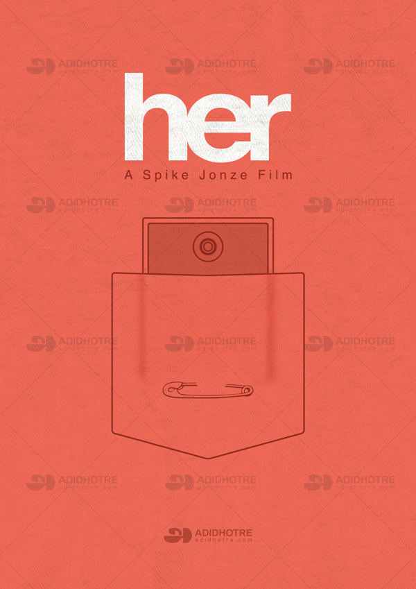 Her Minimalistic Movie Poster On Pantone Canvas Gallery