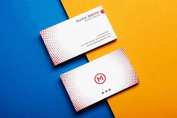stylish modern simple elegant business card bundle