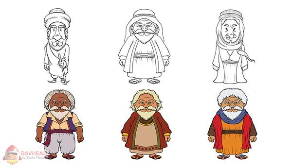 Character Design Old Man : Character design old wise arab man on wacom gallery