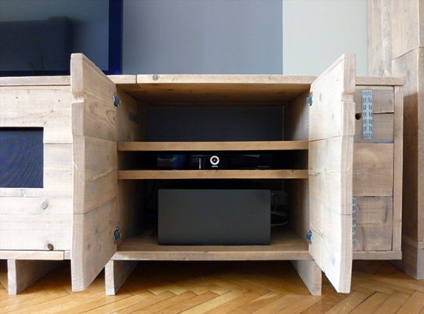 custom furniture made out of used scaffolding wood on behance. Black Bedroom Furniture Sets. Home Design Ideas