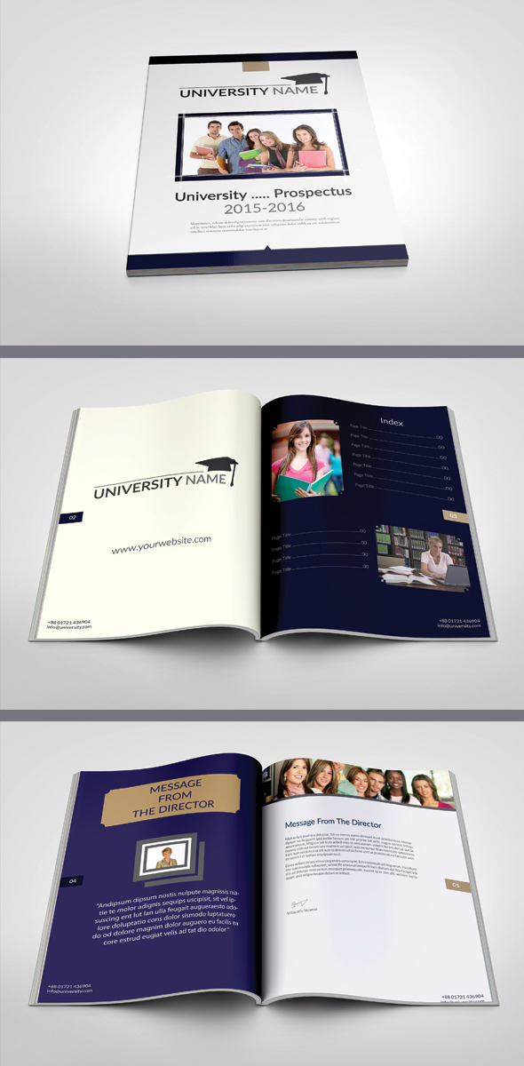 Modern UniversityCollege Prospectus Template On Behance