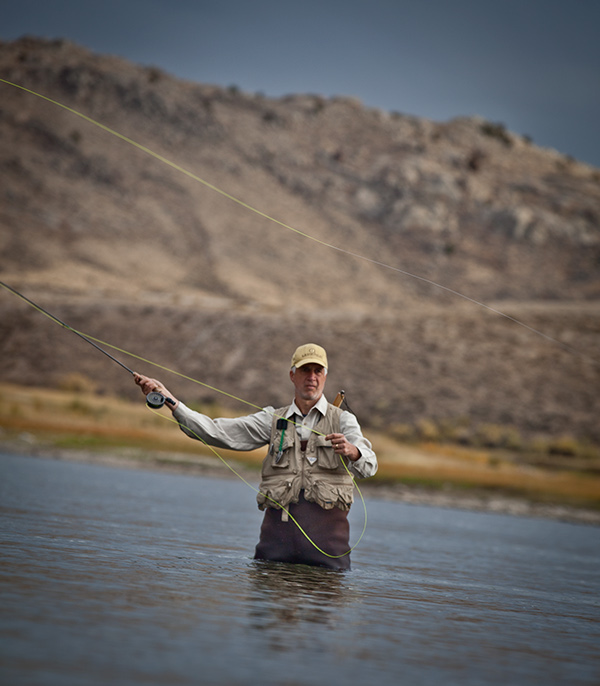 Fly fishing on the miracle mile on behance for North platte fishing report