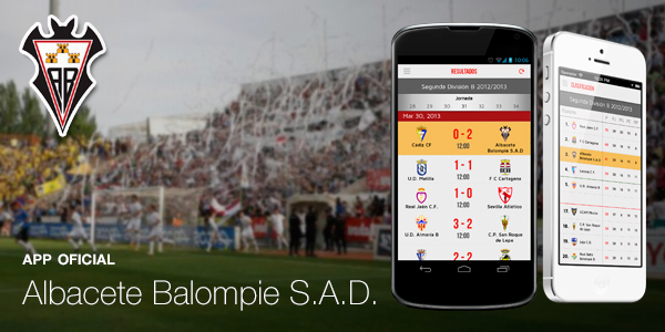 app ios android design albacete football sports