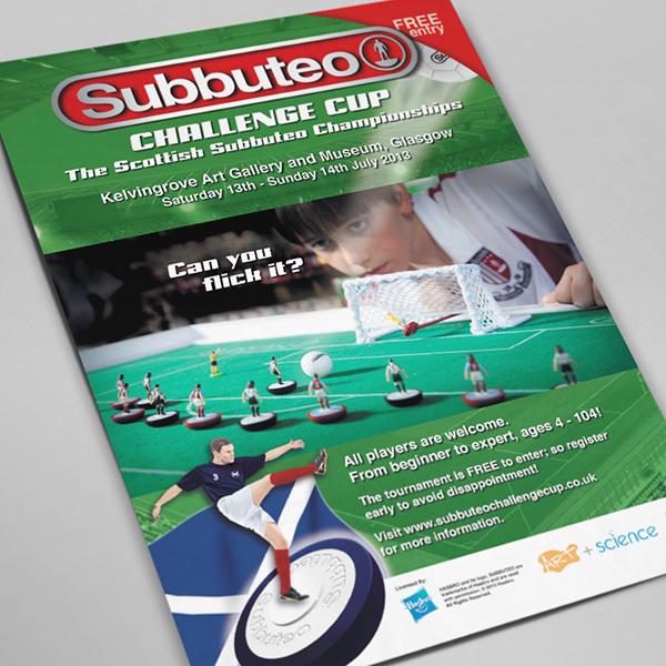Subbuteo Table Football leaflet flyer Event scotland england