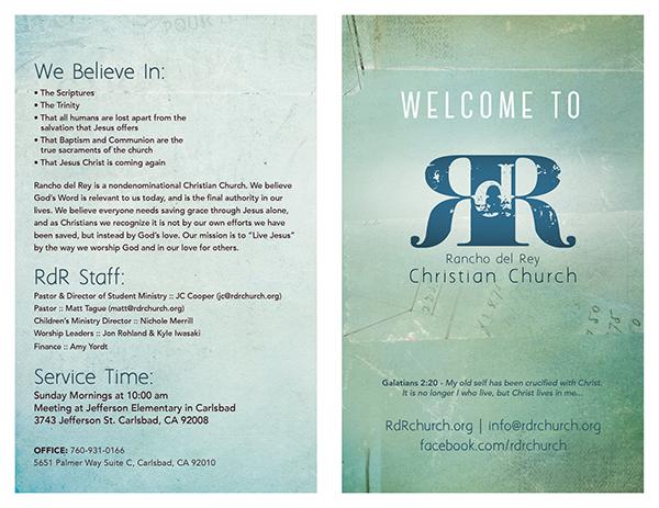 church bulletin design on behance
