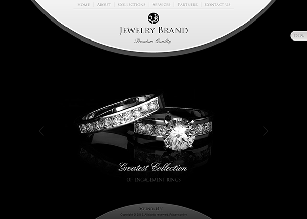 jewelry brand premium quality html5 template on behance