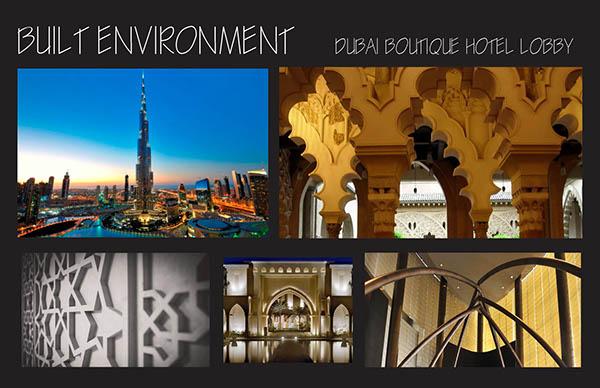 Dubai boutique hotel lobby custom material on scad portfolios for Boutique design hotel dubai