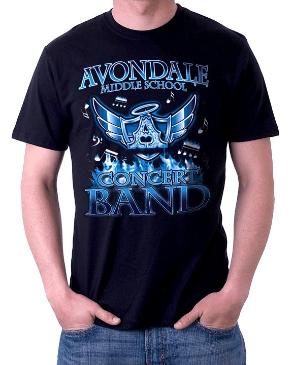 Tshirt Design Avondale Middle School Band On Behance