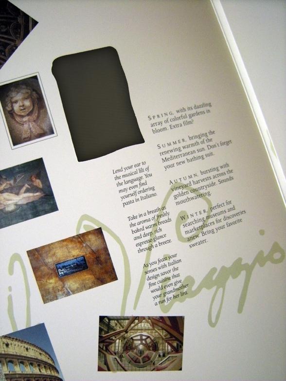 pocket folder brochure die cut Business Cards Travel tourism