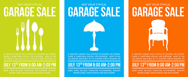 garage sale flyer on student show