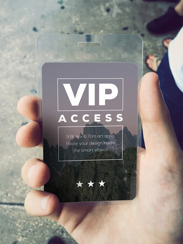 Free VIP Event Pass Mockup Psd on Behance