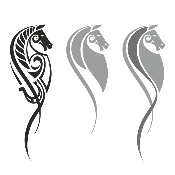Horse Line Drawing Tattoo : Horse drawing for a tattoo on behance