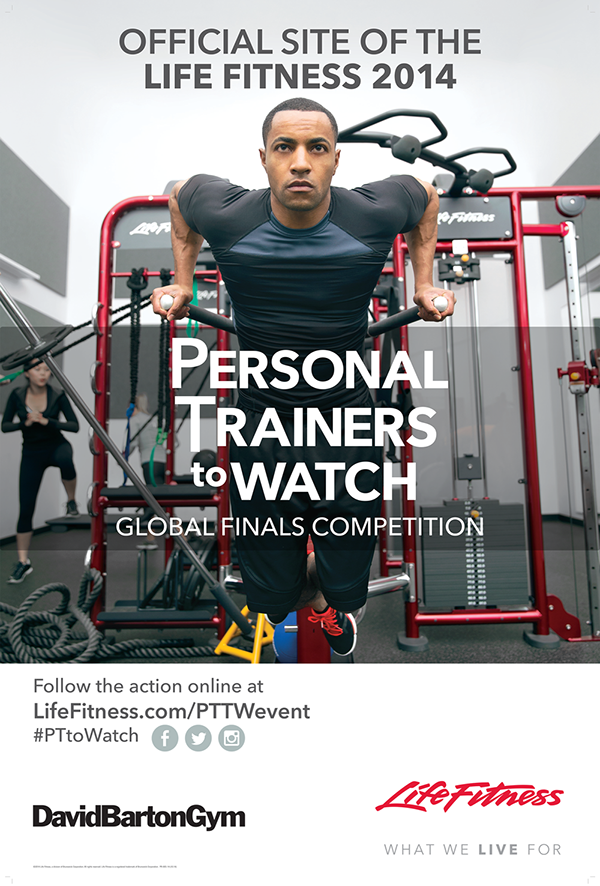 life fitness personal trainers to watch poster on behance