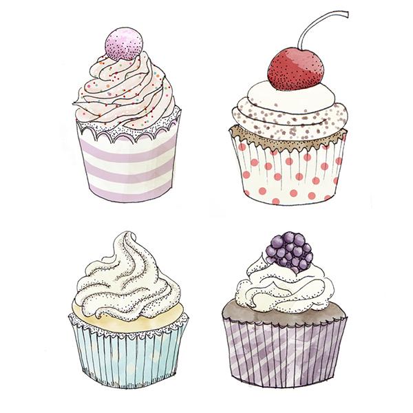 Sweet Cake Drawings On Behance