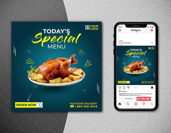 Social media banner design. Social media post