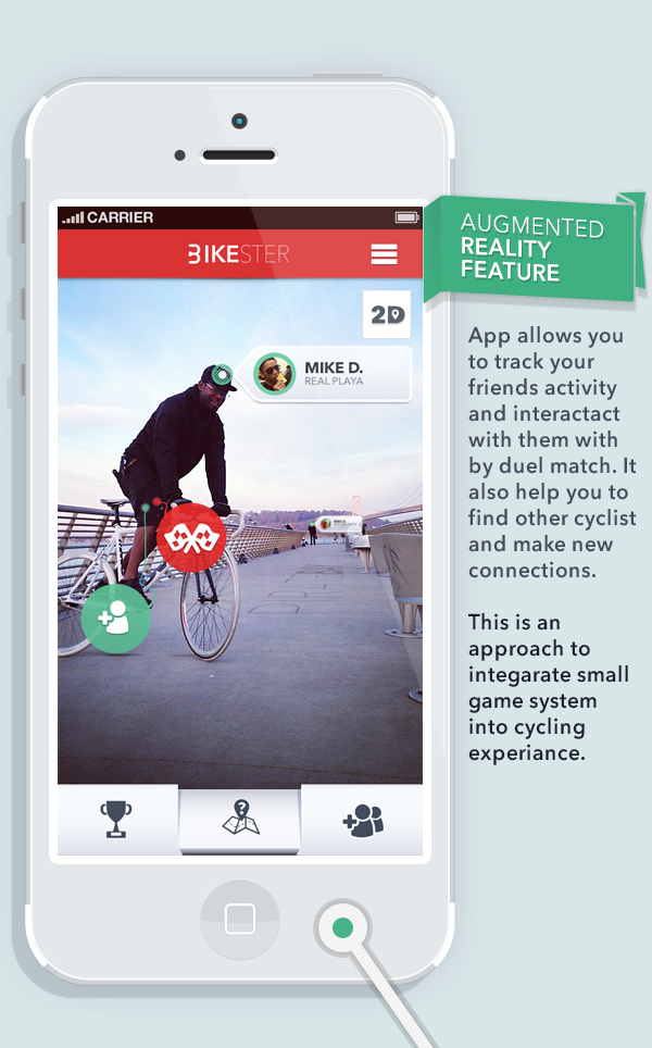 Bike, cycling, app, Application, bikester, samborek, samborek.pl, design,UI, poland