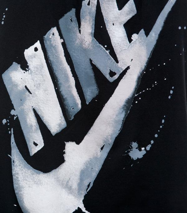 Nike watercolor color Swoosh black White Global splatter
