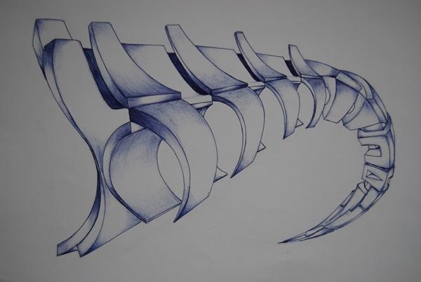 Scorpion Tail Drawing Scorpion Tail on Behance
