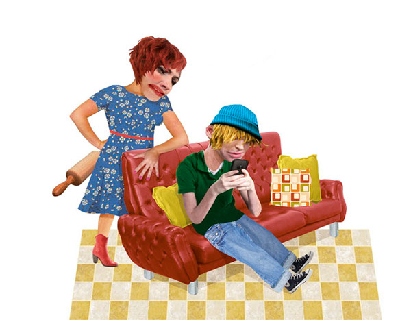 informal care Adolescente parenthood smartphone communication