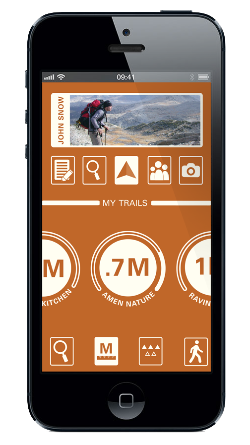 trail trail guide adventure Outdoor Hike iphone android app