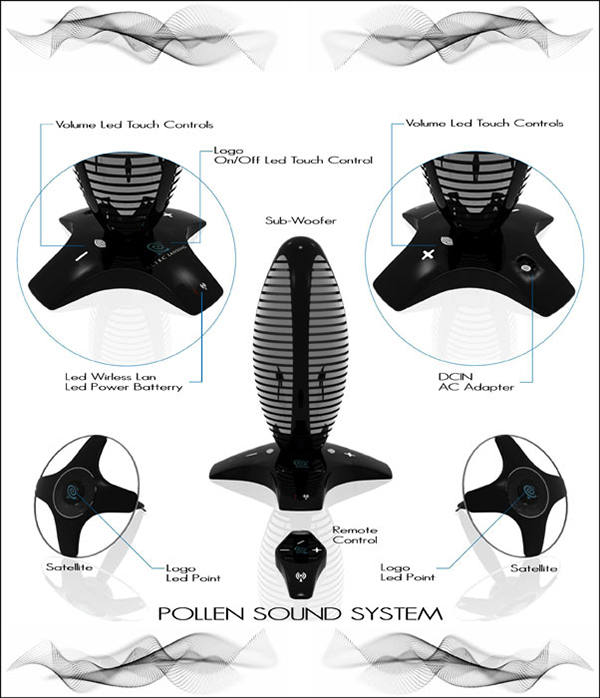Pollen sound system 2009 sound innovation comp on for Industrial design innovation
