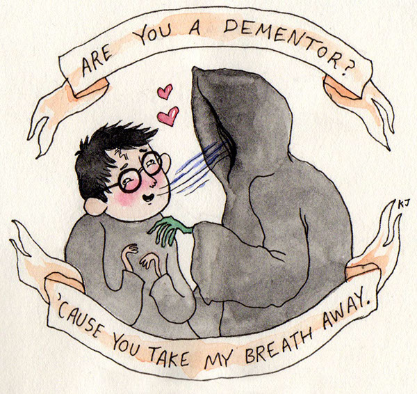 Schön A Series Of Harry Potter Valentines Done In Watercolor And Ink. They  Started Out As Fun Doodles That I Wasnu0027t Sure If Anyone Would Like, But  Then Became ...