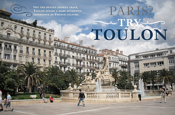 paris try toulon travel magazine article spreads on student show. Black Bedroom Furniture Sets. Home Design Ideas