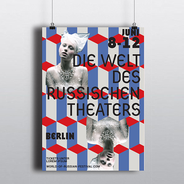 Poster set for Russian Theater Festival in Berlin