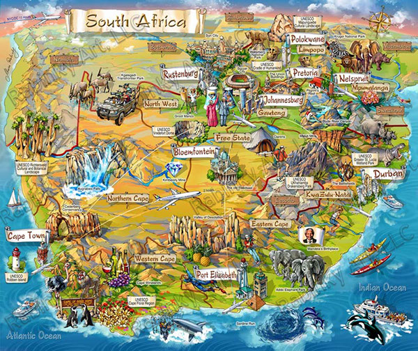 South Africa Map Game.South Africa Map Illustration On Behance