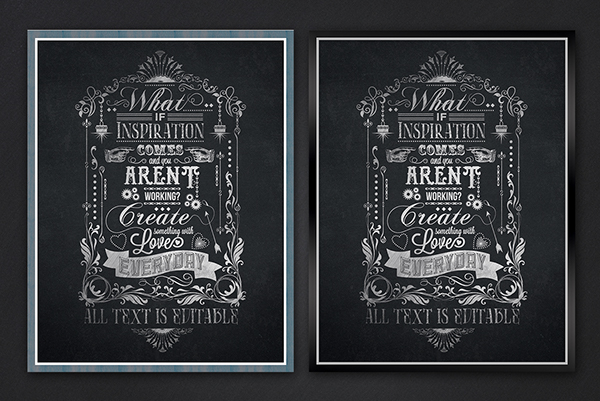 Chalkboard typography template on behance Chalkboard typography