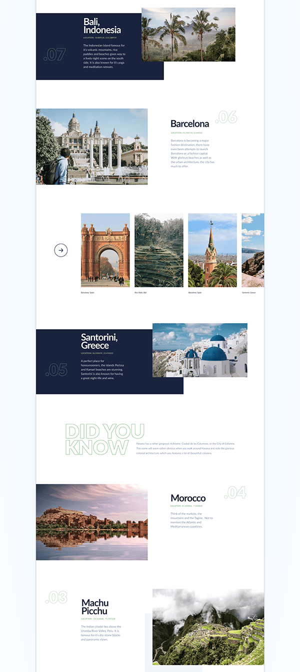 TOP 10 Places in the World | UI/UX Design |
