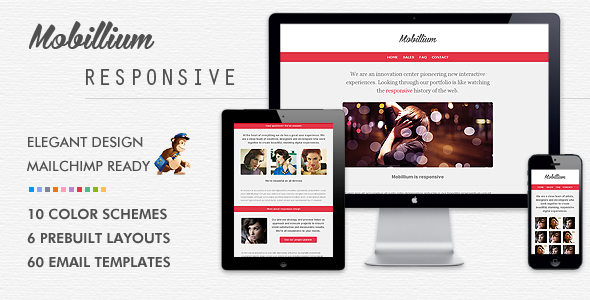 Mobillium responsive mailchimpready email newsletter on for Cool mailchimp templates