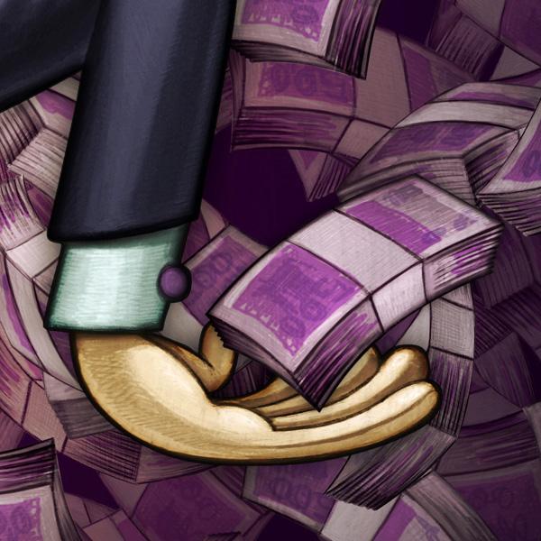 caricature   Celebrity corruption politic