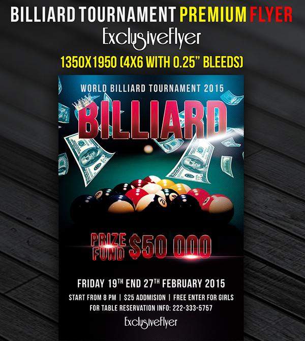 Billiard Tournament Premium Flyer Template