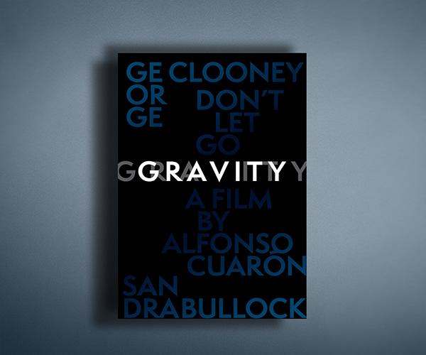 Typographic Poster   GRAVITY