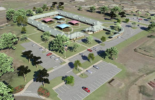 Site Plan Revit : Child development center visualization on behance
