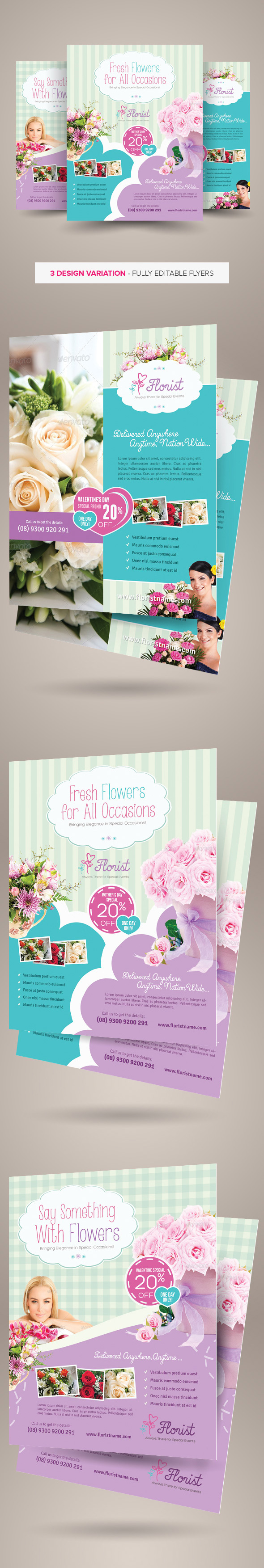 flower shop flyer templates on behance flower shop flyer templates are fully editable design templates created for on graphic river more info of the templates and how to get the sourcefiles