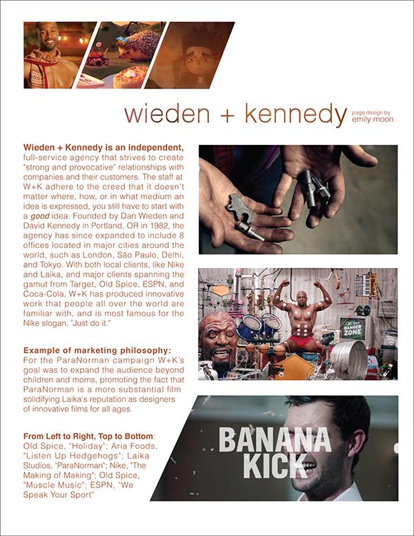Agency profiles anatomy magazine on scad portfolios for Ad agency profile