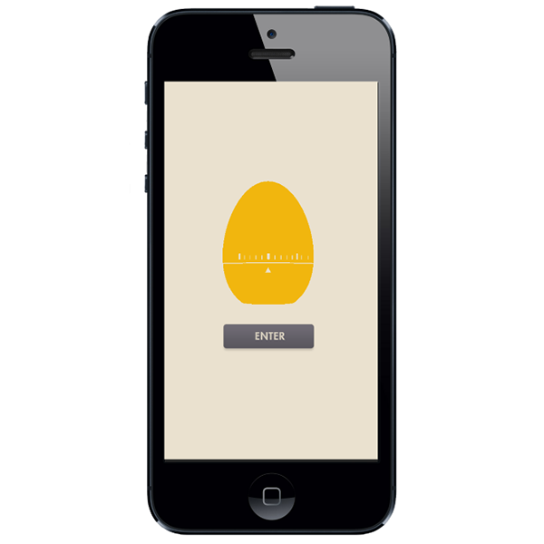 egg timer app on Behance