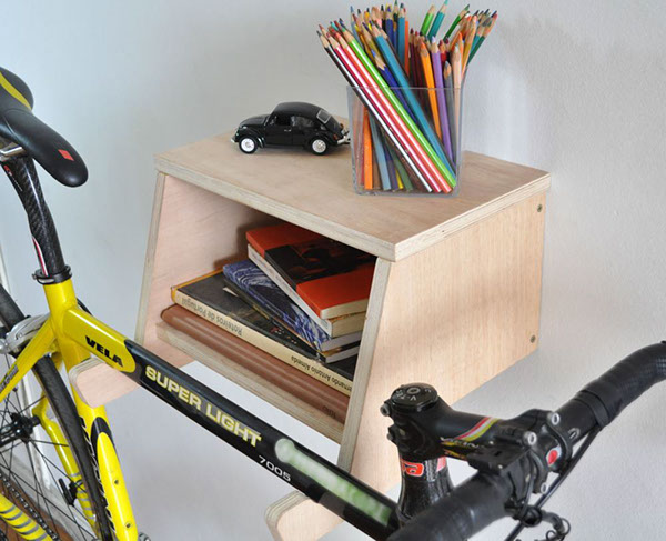 Bike shelf on behance Bicycle bookshelf