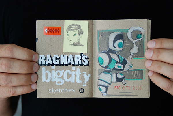 Big City ragnar Ragnarama concept design Sc Fi robots