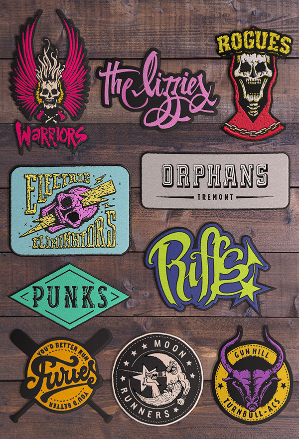 The warriors gang patches for murder
