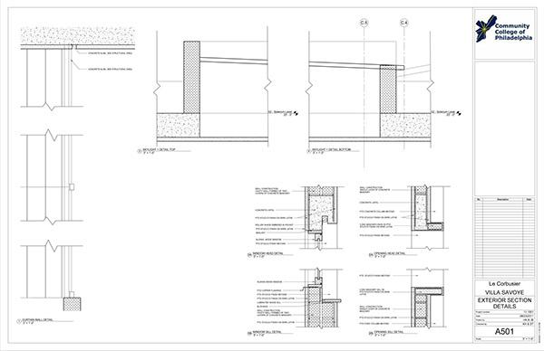 villa savoye revit construction documentation on philau