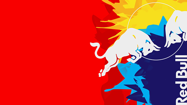 Red Bull Wallpaper on Behance Red Bull Wallpaper