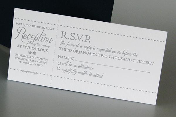 Letterpress winter themed wedding invitation on Behance
