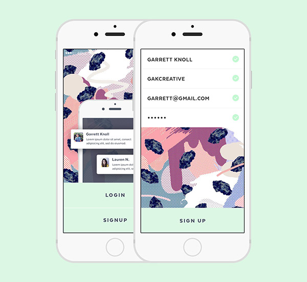 Chat App on Behance